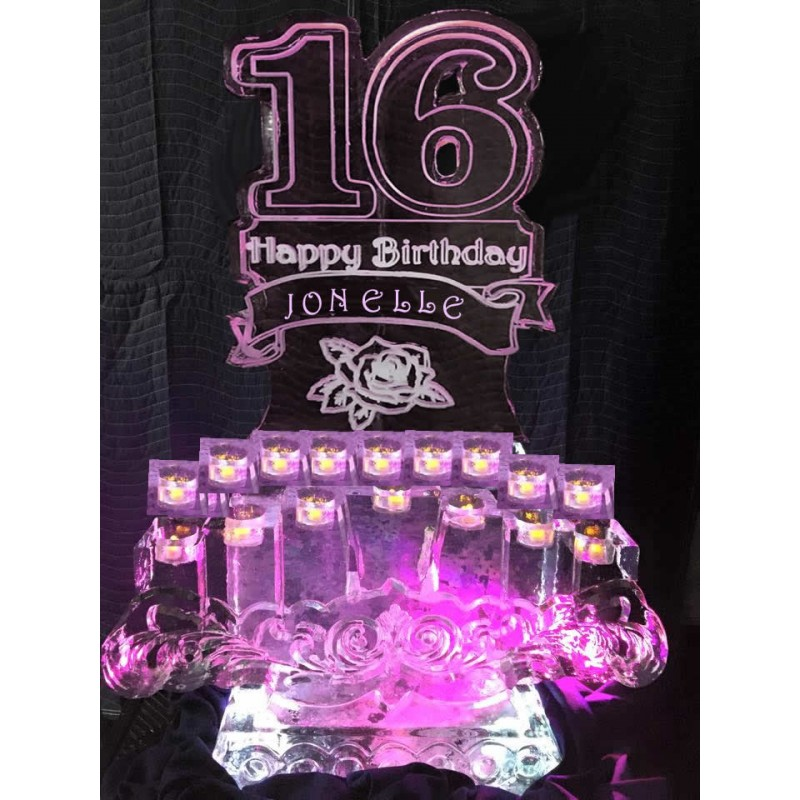 sweet 16 ice sculpture or luge