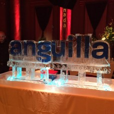 4 Ft Table Top Logo Ice Sculpture or Luge
