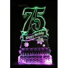 75 Birthday Ice Sculpture or Luge