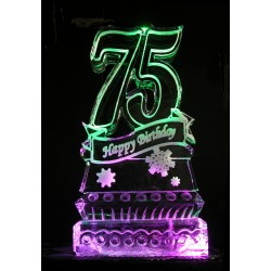 75 Birthday Ice Sculpture