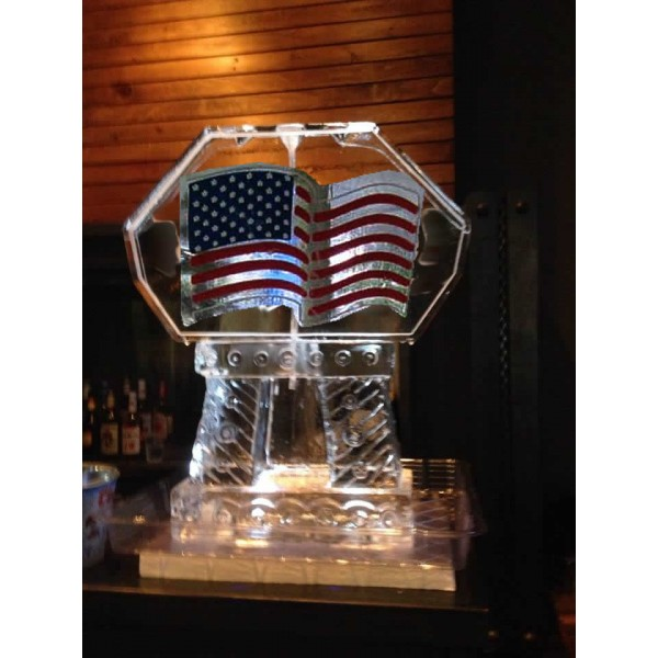 American Flag Ice Sculpture