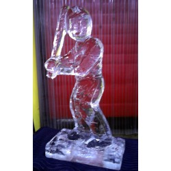 Baseball Player Ice Sculpture