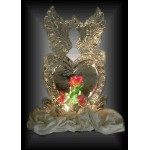 Heart with Doves 3D Ice Sculpture