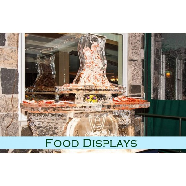 Functional 6 Ft Seafood-Sushi Ice Bar