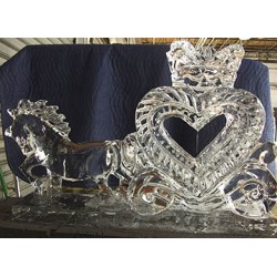 Horse & Carriage Ice Sculpture