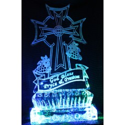 Christian Theme Ice Sculpture