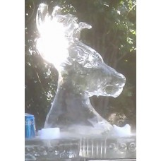 Deer Ice Sculpture or Luge