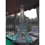 Eiffel Tower Ice Sculpture or Luge