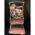 Happy Thanksgiving Ice Sculpture