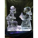 Pilgrim Boy & Girl Ice Sculpture