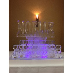 Monogram Ice Sculpture
