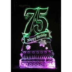 75 Birthday Ice Sculpture